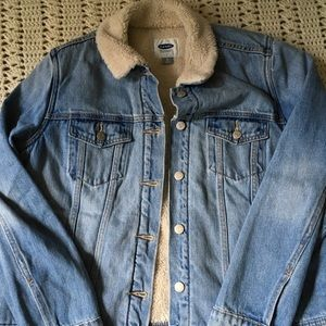 Old Navy Denim Sherpa Jacket